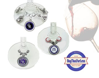 COLORADO Wine or Bottle Charms, Napkin Rings, Set of 6, U Choose Style +FREE SHIPPING & Discounts*