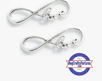 Love INFINITY Charm, 4, 8, 12 pcs +FREE SHiPPiNG & Discounts