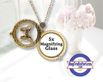 Magnifying Glass PENDANT, BUTTERFLY +FREE SHiPiING & Discounts