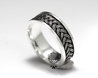 Celtic ring,Celtic Viking  ring,Viking ring,Sterling Silver 925 Black oxidize.