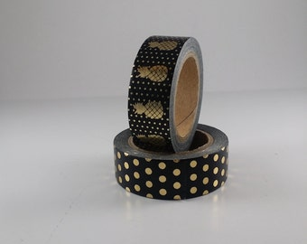 Washi Tape  Pineapple &Polka- Dots Set Of 2