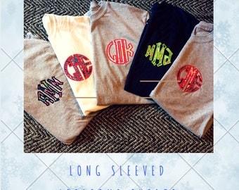 Monogram Applique Long Sleeve Shirt