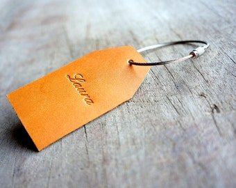 Personalized luggage tag, Custom bag label,luggage tag,leather bag tag,travel tag,travel quote,travel gift,case lable,engraved tag