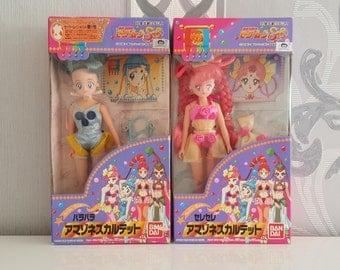 Sailor Moon Amazoness Quartet ParaPara & CereCere Vintage Japanese Figure Doll Collectors Item RARE