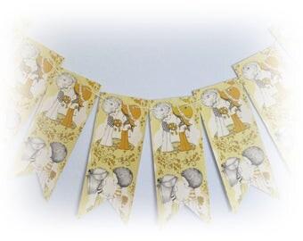 Handmade Vintage Paper Bunting, Wedding Bunting, Engagement Bunting, Flags, Pennants