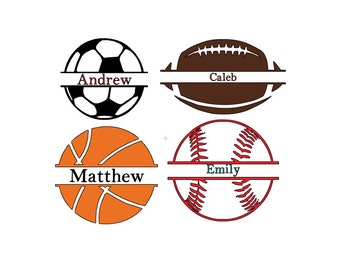 Sports Name Decal