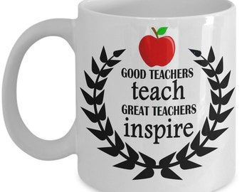 Great teacher Inspires - Coffee mug gift for teachers