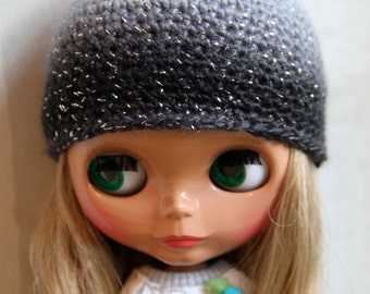 Blythe 50 shades of grey hat