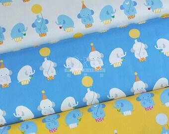 Kiyohana oxford little elephant fabric -50cm