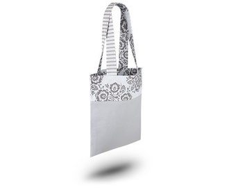 Cotton Bag Loxia Shopping bag Cotton tote bag  - Rainbow Folk Grey