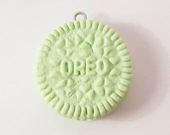 Mint Green Oreo Biscuit Charm