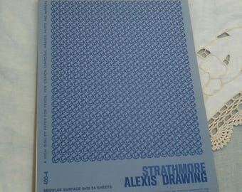 Vintage Sketchbook, Strathmore Alexis Drawing pad, Special edition Strathmore, Drawing supply