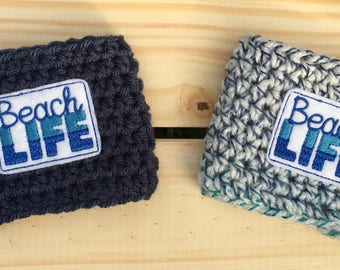 Beach Life Cozy/Coffee Cozy/Coffee Sleeve