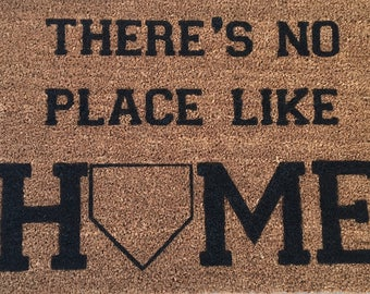 Baseball Welcome Mat