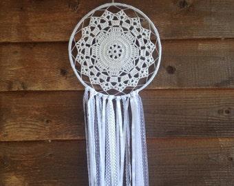 Wind Mandala Crochet Dreamcatcher Home Decor Dream Catcher Handmade Boho Wall hanging ***SALE***