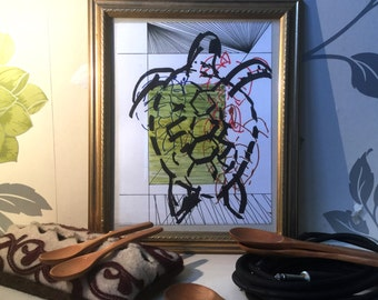 We Are All Animals - Drawings of the Stampede - Turtle (Original Artwork)