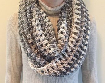 Grey Crochet Scarf