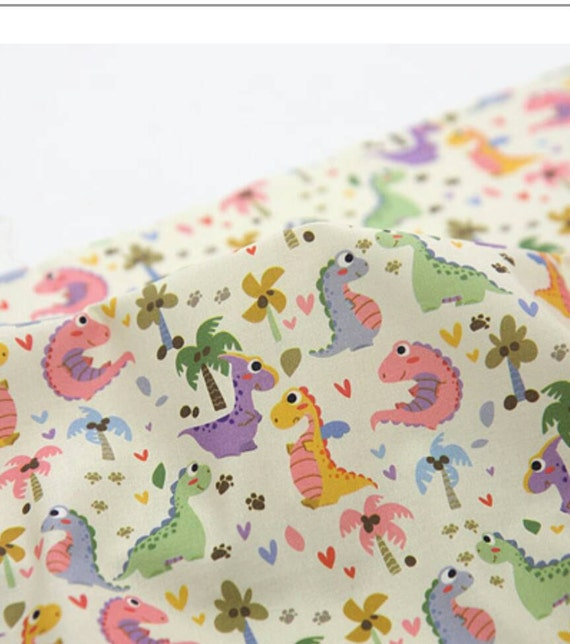 Dinosaur fabric kids fabric boy fabric cute fabric nursery for Boy nursery fabric