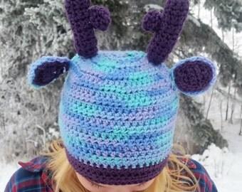 Purple Deer Toque/Beanie