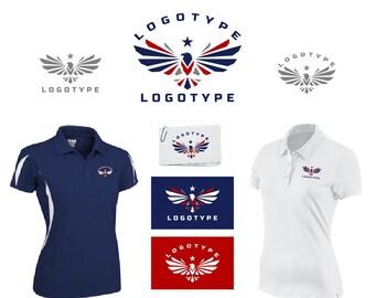 Eagle Logo, Premade Logo, Patriotic Logo, Custom Logo Design, USA Logo, Bird Logo