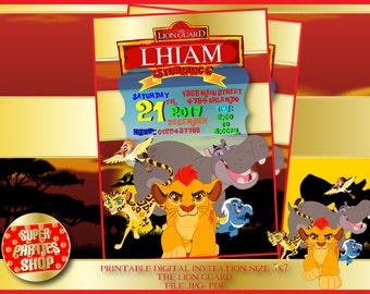 The Lion Guard personalized Digital invitation, the lion guard invitation the lion guard party ,the lion king invitation , kion party ,simba