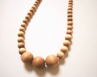 Maple and Birch Wood Teething Necklace