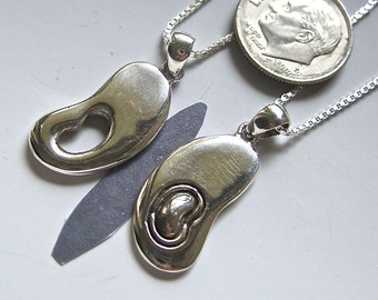 "Kidney Transplant Donor & Recipient Gift Set--Sterling Silver ""Butterfly Wings"""