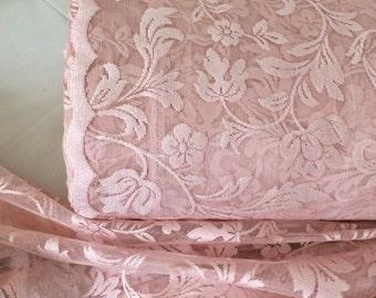 Pink sheer curtains