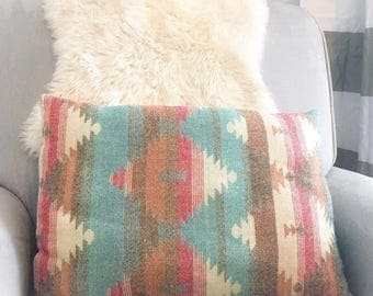 Aztec lumbar pillow, southwestern pillow, boho accent pillow, southwestern decor