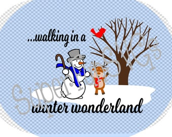 Walking in a Winter Wonderland  SVG - Digital Cutting File, SVG, DXF, png, eps - Silhouette Studio & Cricut
