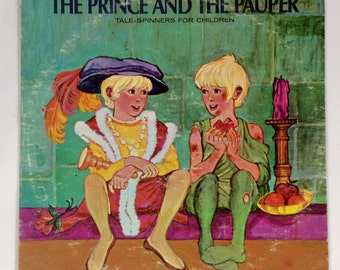 The Prince And The Pauper Tail Spinners For Children / Vintage Childrens Record / Kids Record / United Artists Records UAC 11060