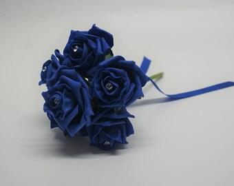 Wedding Posy - Perfect for Bridesmaids ( Royal Blue )