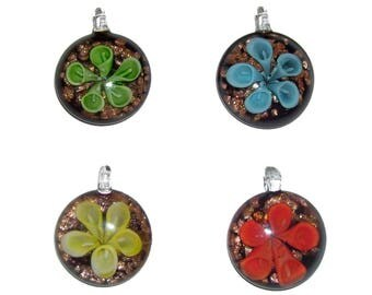 Lotus Flower Pendants x 4