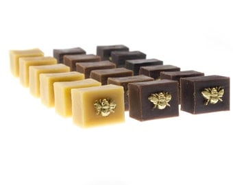 Three Hand 'Gilded Bee' Pure Beeswax Furniture Scratch Repair Blocks - Each one is made by our craftsmen