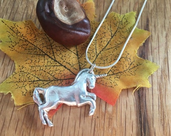 Pure Silver Unicorn necklace - Unicorn pendant - Silver Unicorn - Unicorn Necklace - Mythical Creature - Present for her - Birthday present