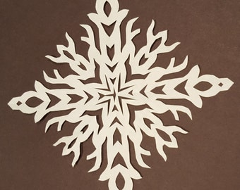 Hand Cut Original Paper Snowflakes One of a Kind Unique