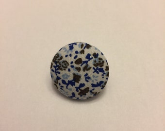Blue and White Flower Pin