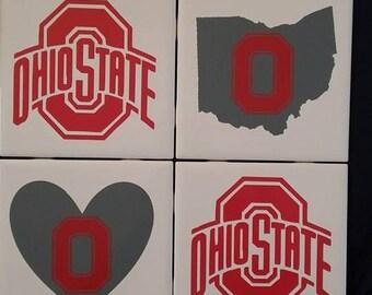 Ohio State Ceramic Coasters