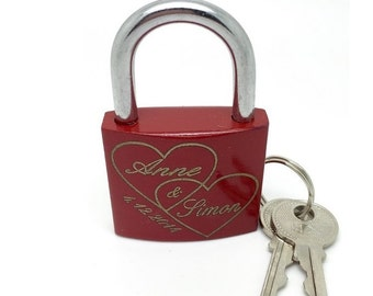 Love lock with engraved lock laser bridge Castle double heart padlock