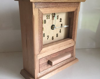 Timber Mantle Clock