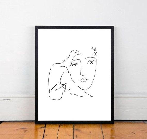 Picasso skizze picasso poster picasso kunstdruck for Minimal art eine kritische retrospektive