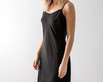Vintage 90s Black Slip Dress