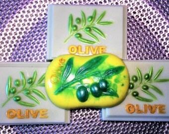 3+1 Olive Soaps. Olive Grove. 3 Bars of Soap + 1 Bar Gift