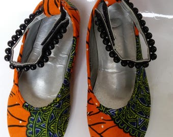 African Prints Girls Shoes