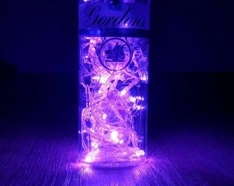 Gordon's Sloe Gin 70cl upcycled bottle light/ lamp