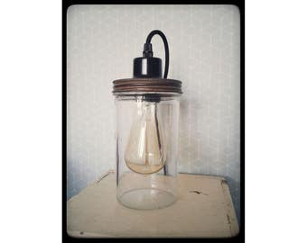 Jar lamp - Bulb Edison provided