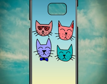 Cute Gradient Pet Cat Friends for Samsung Galaxy Note 3, Samsung Galaxy Note 4, Samsung Galaxy Note 5, Electronic Phone Case