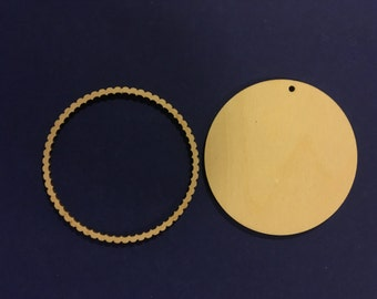 Round Wood Blank and Round Frame