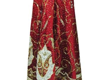 Zari/ zardozi lehenga wedding bridal vintage satin silk long skirt fashion