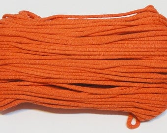 Orange cotton cord 100 m (110 yd) 5 mm (0,2 in), cotton rope, macrame cord